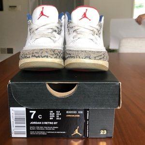 Jordan 3 Retro BT w/ Box